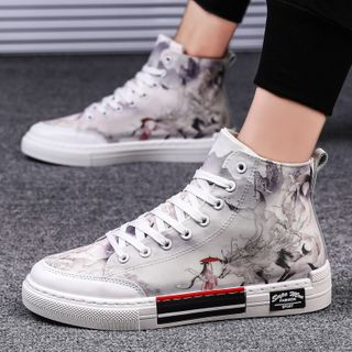 HANO - High Top Canvas Lace-Up Sneakers