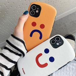 TinyGal - 笑脸印花手机保护套 - iPhone 11 Pro Max / 11 Pro / 11 / SE / XS Max / XS / XR / X / SE 2 / 8 / 8 Plus / 7 / 7 Plus