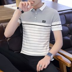 Beatit - 条纹短袖马球衫