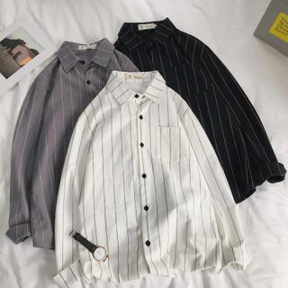 VEAZ - Long-Sleeve Striped Shirt
