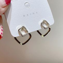 True Glam - Alloy Square Earring