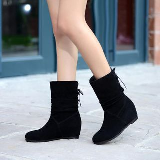 Shoes Galore(シューズガロア) - Hidden-Wedge Mid-Calf Boots