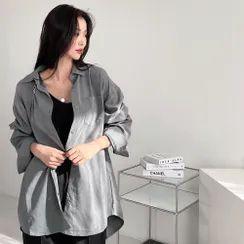 PPGIRL - Pocket-Front Drop-Shoulder Shirt