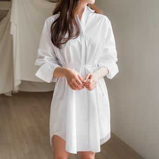 Envy Look - Loose-Fit Shirtdress with Sash