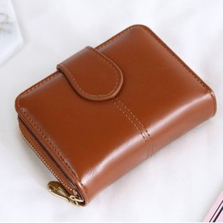 nitefini(ナイトフィニ) - Faux Leather Zip Wallet