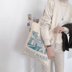 TangTangBags - Lettering Print Tote Bag