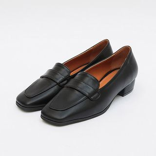 icecream12 - Faux-Leather Penny Loafers
