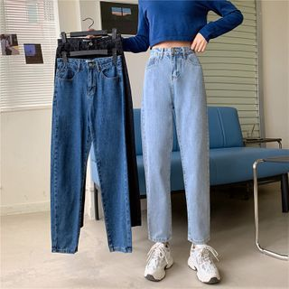 Racoon - Washed Straight Leg Jeans