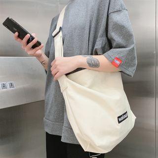 SUNMAN - Canvas Letter Crossbody Bag