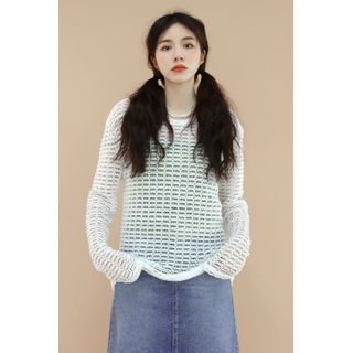 SIMPLY MOOD - See-Though Knit Top