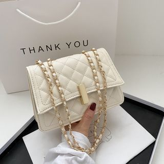 Diamante(ディアマンテ) - Chain Quilted Crossbody Bag
