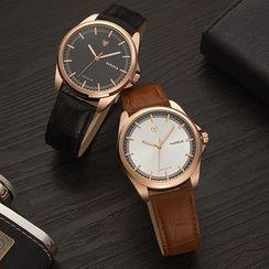 YAZOLE - 真皮带式手表