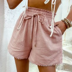 Simplee - Drawstring Shorts