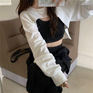 MissFiver - 短袖印花T裇 / 短款卫衣 / 短款背心
