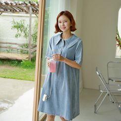 Lemite - Button-Front Denim Dress