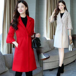 Sienne - 3/4-Sleeve Lapel Woolen Coat