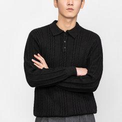 Orizzon - Knit Polo Shirt