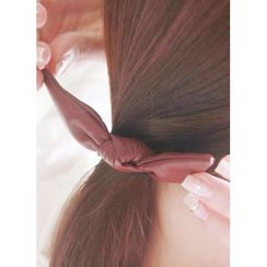 kitsch island - Faux-Leather Bow Hair Tie