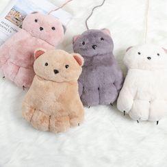 Alaysia - Bear Chenille Gloves