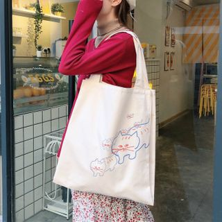 Milha - Printed Canvas Tote Bag