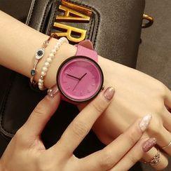 MODIYA - 壓紋數字帆布帶式手錶