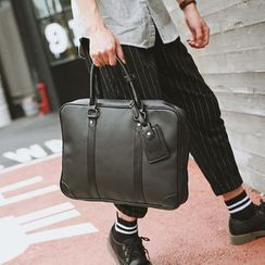 BagBuzz(バッグバズ) - Faux Leather Briefcase