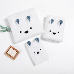 Soldana - Rabbit Ear Coral Fleece Bath Towel / Face Towel / Hand Towel / Set