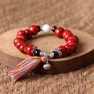 Cancion - 吊蘇陶瓷飾珠手鏈