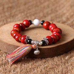 Cancion - Tassel Ceramic Bead Bracelet