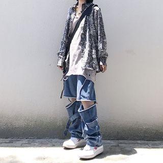 Malnia Home(マルニャホーム) - Detachable Wide-Leg Jeans