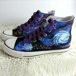 HVBAO - Painted Galaxy Canvas Sneakers
