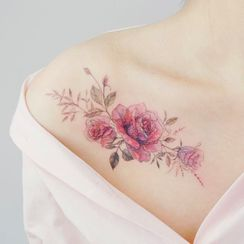 Star of the Day - Flower Waterproof Temporary Tattoo