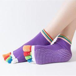 AUM - Full Toe Yoga Grip Socks