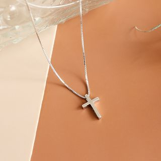 Phoenoa(フェノア) - 925 Sterling Silver Cross Pendant Necklace