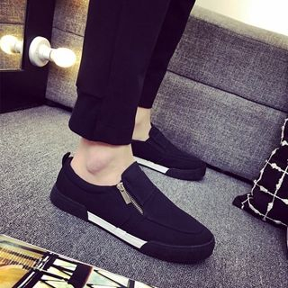 Solejoy(ソールジョイ) - Canvas Zip Loafers