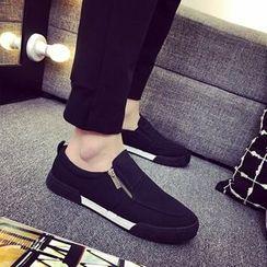 Solejoy - 帆布拉链乐福鞋