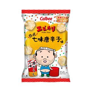 Calbee - [Limited] Ebikari Shichimi Flavoured Prawn Chips 50g
