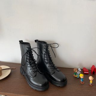ever after - Faux-Leather Platform Short Boots