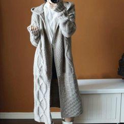 Lumierii - Cable Knit Long Coat