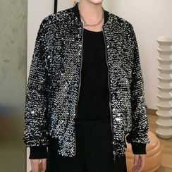Bjorn - Sequined Bomber Jacket