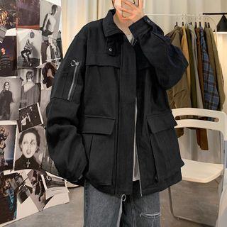 CooLook - Plain Zip Jacket