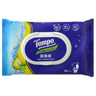 Tempo - Moist Flushable Tissue, 1 pack (35pcs)