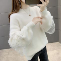 GLUO - Mesh Panel Sweater
