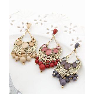 Miss21 Korea - Bead Cluster Chandelier Earrings
