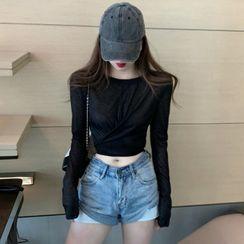 Guajillo(グアジロ) - Long-Sleeve Cropped T-Shirt
