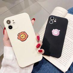 Casei Colour - 獅子印花手機保護套 - iPhone 12, 12 Pro, 12Pro Max, 12mini, iPhone 11, 11 Pro, 11 Pro Max
