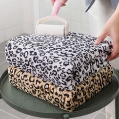 Happy Fish - Leopard Print Bath Towel