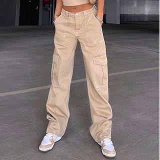 Sosana - High-Waist Pocket Cargo Pants
