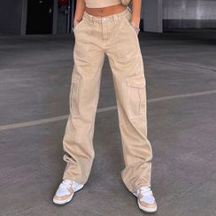 Sosana - 高腰口袋工装裤