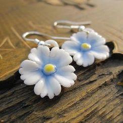 Townlet - 陶瓷花朵吊墜耳鈎